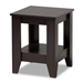 Baxton Studio Audra Modern and Contemporary Dark Brown Finished Wood End Table - IEET8000-Wenge-ET