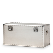 Baxton Studio Serge French Industrial Silver Metal Storage Trunk Baxton Studio restaurant furniture, hotel furniture, commercial furniture, wholesale living room furniture, wholesale storage trunk, classic storage trunk
