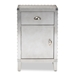 Baxton Studio Romain French Industrial Silver Metal 1-Door Accent Storage Cabinet - IELD18B050-Silver-Cabinet
