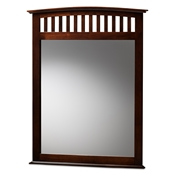 Baxton Studio Metropolitan Modern and Contemporary Dark Brown Finished Wood Dresser Mirror Baxton Studio restaurant furniture, hotel furniture, commercial furniture, wholesale living room furniture, wholesale mirror, classic mirror