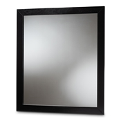 Baxton Studio Arly Modern and Contemporary Black Finished Wood Dresser Mirror