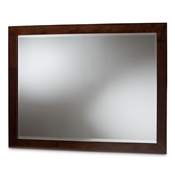 Baxton Studio Butler Modern and Contemporary Dark Brown Finished Wood Dresser Mirror Baxton Studio restaurant furniture, hotel furniture, commercial furniture, wholesale living room furniture, wholesale mirror, classic mirror