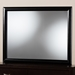 Baxton Studio Kima Modern and Contemporary Black Finished Wood Dresser Mirror - IEKIM-Mirror