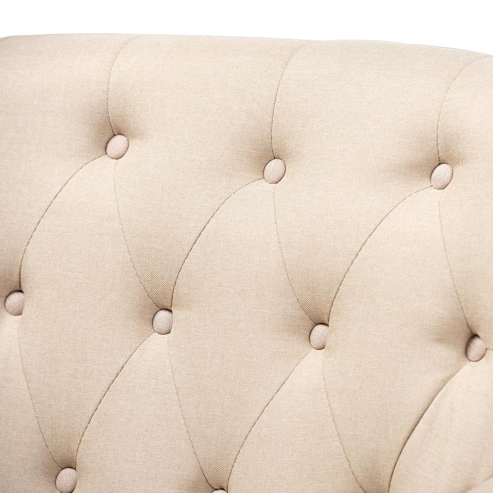 Baxton Studio Barret Modern And Contemporary Beige Linen