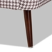 Baxton Studio Gia Modern and Contemporary Brown and White Houndstooth Accent Chair - IETSF-6630-Houndstooth/Walnut-CC