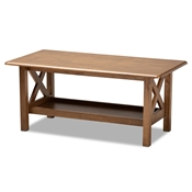Baxton Studio Reese Traditional Transitional Walnut Brown Finished Rectangular Wood Coffee Table Baxton Studio restaurant furniture, hotel furniture, commercial furniture, wholesale living room furniture, wholesale coffee table, classic coffee table