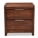 Baxton Studio Torres Modern and Contemporary Brown Oak Finished 2-Drawer Wood Nightstand - IETorres-Rain Oak-NS