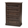Baxton Studio Nolan Traditional Transitional Hazel Walnut Brown Finished 5-Drawer Wood Chest Baxton Studio restaurant furniture, hotel furniture, commercial furniture, wholesale bedroom furniture, wholesale chest, classic chest