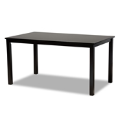 Baxton Studio Eveline Modern and Contemporary Espresso Brown Finished Rectangular Wood Dining Table Baxton Studio restaurant furniture, hotel furniture, commercial furniture, wholesale dining room furniture, wholesale dining table, classic dining table