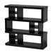 Baxton Studio Dora Modern and Contemporary Dark Brown Finished Wood 3-Tier Geometric Bookshelf
