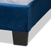 Baxton Studio Fiorenza Glam and Luxe Navy Blue Velvet Fabric Upholstered King Size Panel Bed with Extra Wide Channel Tufted Headboard - IECF8031F-Navy Blue Velvet-King