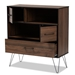 Baxton Studio Charis Modern and Transitional Two-Tone Walnut Brown and Black Finished Wood 1-Drawer Bookcase - IEBC 7590-00-Columbia/Black-Bookcase