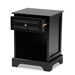 Baxton Studio Chase Modern Transitional Black Finished 1-Drawer Wood Nightstand - IESR161050-Black-NS