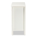 Baxton Studio Kendall Classic and Traditional White Finished Wood and Glass Kitchen Storage Cabinet - IESR1801379-White-Cabinet