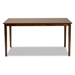 Baxton Studio Eveline Modern and Contemporary Walnut Brown Finished Rectangular Wood Dining Table - IERH7008T-Walnut-DT
