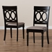 Baxton Studio Lucie Modern and Contemporary Sand Fabric Upholstered and Espresso Brown Finished Wood 2-Piece Dining Chair Set Set - IERH333C-Sand/Dark Brown-DC-2PK