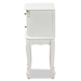 Baxton Studio Sophia Classic and Traditional French White Finished Wood 2-Drawer Nightstand - IEHL7A-A110-2 DW NS