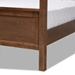 Baxton Studio Veronica Modern and Contemporary Walnut Brown Finished Wood Queen Size Platform Canopy Bed - IEMG0021-1-Walnut-Queen