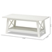 Baxton Studio Germain Modern and Contemporary White Finished Wood Coffee Table - IESR1706097-White-CT