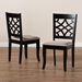 Baxton Studio Mael Modern and Contemporary Sand Fabric Upholstered and Espresso Brown Finished Wood 2-Piece Dining Chair Set - IERH331C-Sand/Dark Brown-DC-2PK