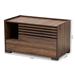 Baxton Studio Claire Modern and Contemporary Walnut Brown Finished Cat Litter Box Cover House - IESECHC150080WI-Columbia-Cat House