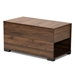 Baxton Studio Skylar Modern and Contemporary Walnut Brown Finished Cat Litter Box Cover House - IESECHC150090WI-Columbia-Cat House