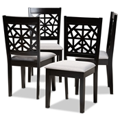 Baxton Studio Devon Modern and Contemporary Grey Fabric Upholstered and Espresso Brown Finished Wood 5-Piece Pub Dining Set Baxton Studio restaurant furniture, hotel furniture, commercial furniture, wholesale bar furniture, wholesale pub sets, classic pub sets