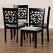Baxton Studio Jackson Modern and Contemporary Grey Fabric Upholstered and Espresso Brown Finished Wood 4-Piece Dining Chair Set - IERH310C-Grey/Dark Brown-DC-4PK