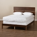 Baxton Studio Anthony Modern and Contemporary Walnut Brown Finished Wood Queen Size Panel Bed - IEMG0024-Walnut-Queen
