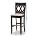 Baxton Studio Carson Modern and Contemporary Sand Fabric Upholstered and Espresso Brown Finished Wood 2-Piece Bar Stool Set - IERH315B-Sand/Dark Brown-BS
