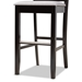 Baxton Studio Carson Modern and Contemporary Grey Fabric Upholstered and Espresso Brown Finished Wood 2-Piece Bar Stool Set - IERH315B-Grey/Dark Brown-BS
