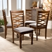 Baxton Studio Elijah Modern and Contemporary Grey Fabric Upholstered and Walnut Brown Finished Wood 4-Piece Dining Chair Set - IERH318C-Grey/Walnut-DC-4PK