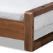 Baxton Studio Klara Modern and Contemporary Walnut Finished Wood Expandable Twin Size to King Size Bed Frame - IEMG0026-Walnut-Twin
