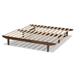 Baxton Studio Hiro Modern and Contemporary Walnut Finished Wood Expandable Twin Size to King Size Bed Frame - IEMG0036-Walnut-Extension Bed