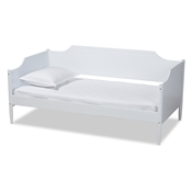 Baxton Studio Alya Classic Traditional Farmhouse White Finished Wood Twin Size Daybed