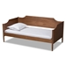 Baxton Studio Alya Classic Traditional Farmhouse Walnut Brown Finished Wood Twin Size Daybed - IEMG0016-1-Walnut-Daybed