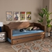 Baxton Studio Alya Classic Traditional Farmhouse Walnut Brown Finished Wood Twin Size Daybed with Roll-Out Trundle Bed - IEMG0016-1-Walnut-Daybed with Trundle