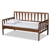 Baxton Studio Midori Modern and Contemporary Transitional Walnut Brown Finished Wood Twin Size Daybed Baxton Studio restaurant furniture, hotel furniture, commercial furniture, wholesale bedroom furniture, wholesale twin, classic twin