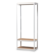 Baxton Studio Elton Modern and Contemporary White Finished Metal 3-Shelf Free-Standing Closet Storage Organizer
