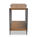 Baxton Studio Britton Rustic Industrial Walnut Finished Wood and Black Finished Metal Console Table - IEYLX-2781-Console