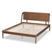 Baxton Studio Sadler Mid-Century Modern Ash Walnut Brown Finished Wood King Size Platform Bed - IEMG0047-9-Ash Walnut-King