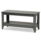 Baxton Studio Elada Modern and Contemporary Grey Finished Wood Coffee Table