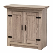 Baxton Studio Bruce Modern Contemporary Farmhouse Oak Brown Finished Wood 2-Door Shoe Storage Cabinet