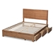 Baxton Studio Aras Modern and Contemporary Transitional Ash Walnut Brown Finished Wood Full Size 3-Drawer Platform Storage Bed - IEAras-Ash Walnut-Full