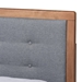 Baxton Studio Lene Modern and Contemporary Transitional Dark Grey Fabric Upholstered and Ash Walnut Brown Finished Wood King Size 3-Drawer Platform Storage Bed - IELene-Dark Grey/Ash Walnut-King