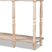 Baxton Studio Hallan Classic and Traditional French Provincial Rustic Whitewashed Oak Brown Finished Wood 3-Drawer Console Table - IEJY20A075-Natural-Console