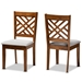 Baxton Studio Caron Modern and Contemporary Grey Fabric Upholstered and Walnut Brown Finished Wood 2-Piece Dining Chair Set