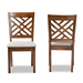 Baxton Studio Caron Modern and Contemporary Grey Fabric Upholstered and Walnut Brown Finished Wood 2-Piece Dining Chair Set - IERH317C-Grey/Walnut-DC-2PK