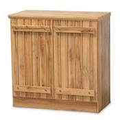 Baxton Studio Sorina Modern and Contemporary Farmhouse Natural Oak Brown Finished Wood 2-Door Shoe Cabinet