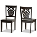 Baxton Studio Gervais Modern and Contemporary Transitional Dark Brown Finished Wood 2-Piece Dining Chair Set